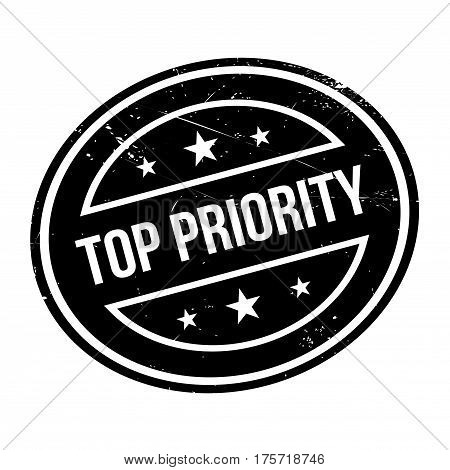 Top Priority rubber stamp. Grunge design with dust scratches. Effects can be easily removed for a clean, crisp look. Color is easily changed.