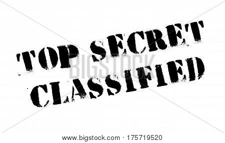 Top Secret Classified rubber stamp. Grunge design with dust scratches. Effects can be easily removed for a clean, crisp look. Color is easily changed.
