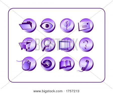 Icon Set Purple