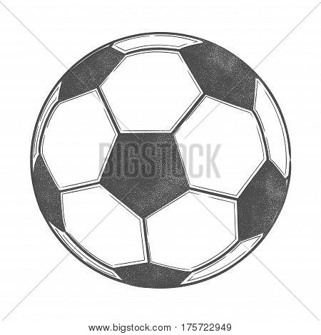 Vector illustration of a soccer ball for badges, campaign logos, promo stock, advertisement, emblems isolated on white background