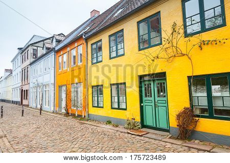 Flensburg City, Germany. Old Houses