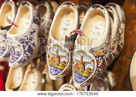 Dutch Clogs, Shoes Made Of Poplar Wood