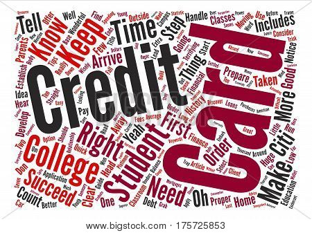 A Guide For Student Credit Cards Word Cloud Concept Text Background