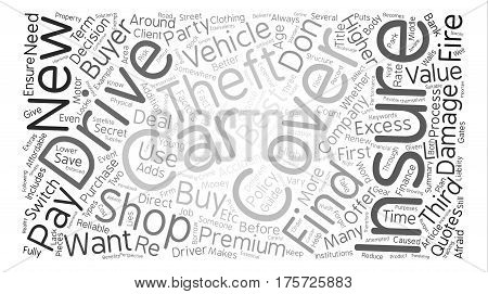 A Guide To Car and Motor Insurance text background word cloud concept