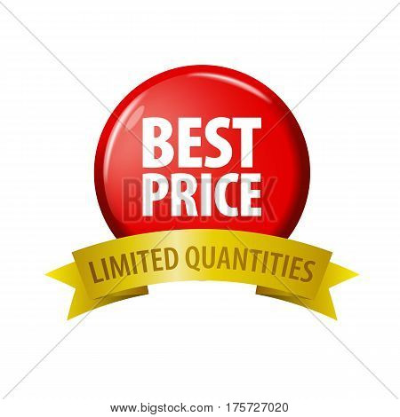Red Button With Words 'best Price - Limited Quantities'