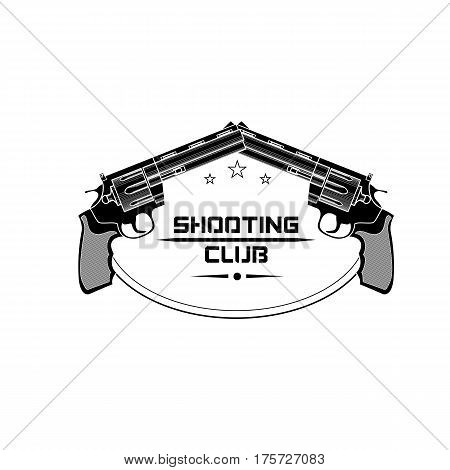 Shooting club emblem logo. For use as logos on cards in printing posters invitations web design and other purposes.