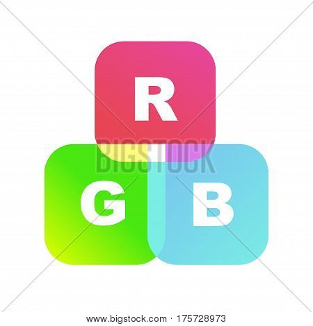Color system of the RGB as toy cubes. Vector EPS8