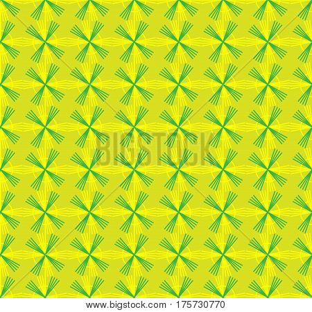 Seamless pattern with geometric shapes and symbols On a colored background