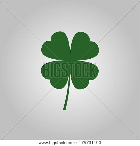 Four leaf clover icon. Leaf clover sign