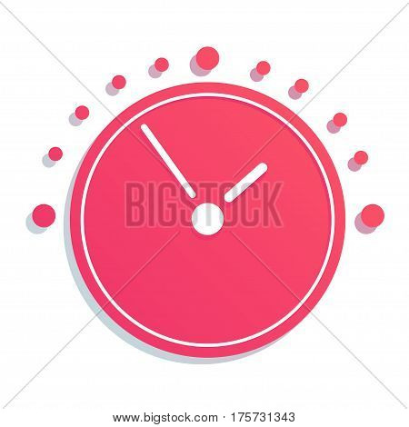 Mechanical Clock simple Icon. Vector EPS8 icon