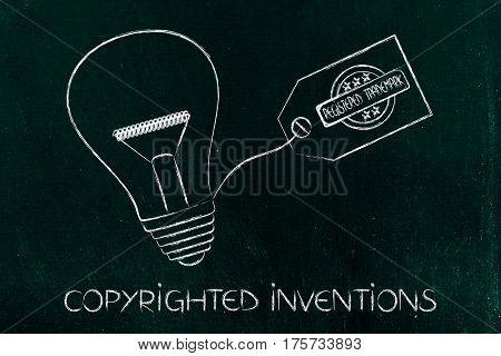 Idea Lightbulb With Trademark Tag