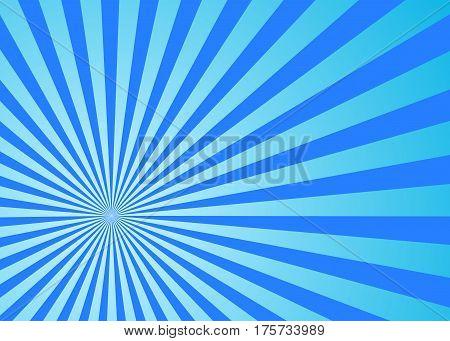 Sun rays blue, vector. Sun rays background