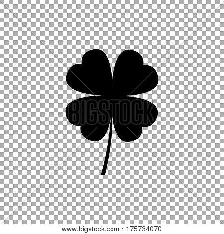 Four leaf clover icon. Black icon vector