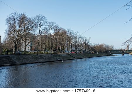 York, United Kingdom. 4 January 2017 : View Of Building Along River Ouse, York, England
