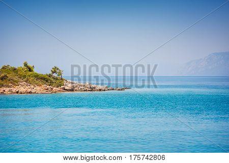 Aegean sea islands near Marmaris. Mugla. Turkey