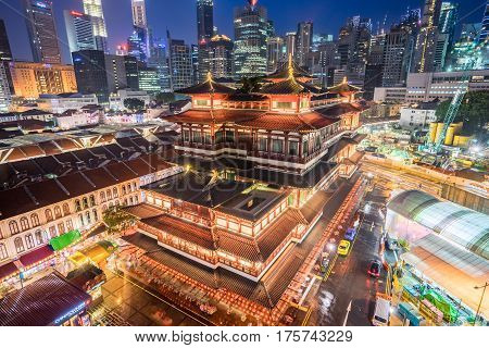 Singapore Buddha Teeth Relic Temple In Singapore City.