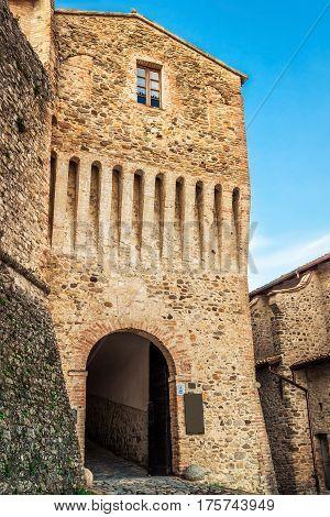 Torrechiara Castle In Emilia-romagna Region, Italy