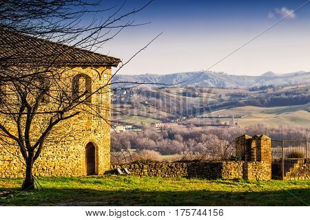 Old House With View Of The Hills