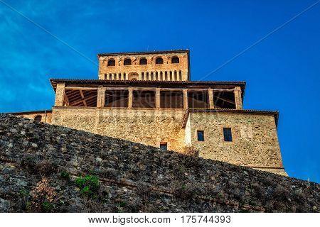 Torrechiara Castle In Emilia-romagna, Italy