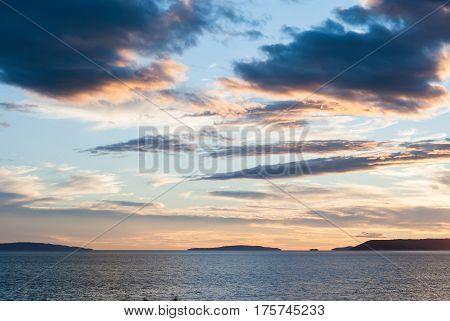 Sunset Over Split, Croatia, Dalmatia