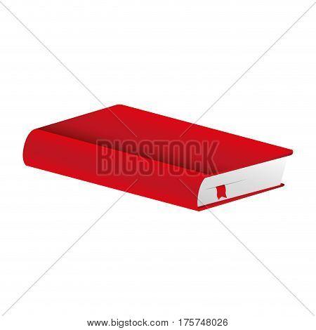 red book closed icon, vector illustraction design