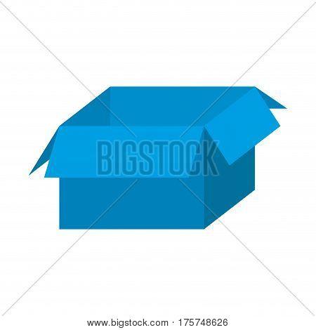 blue box open icon, vector illustraction design image