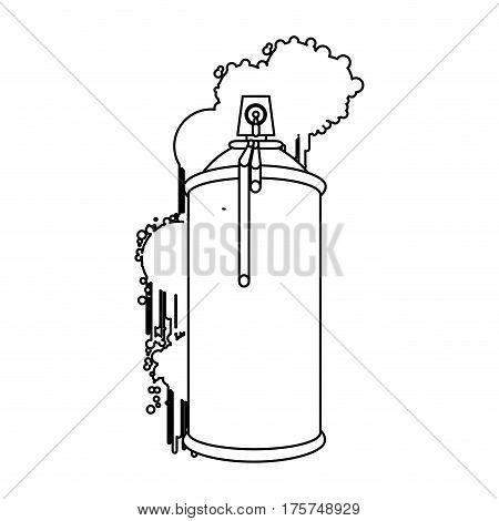 figure can aerosol sprays icon, vector illustraction design