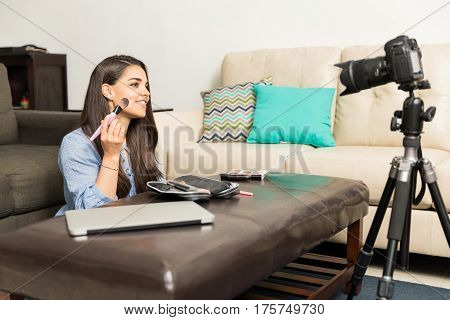 Recording A Beauty Video Blog