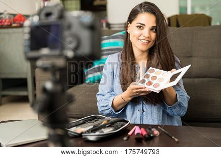 Woman Talking About Beauty Products