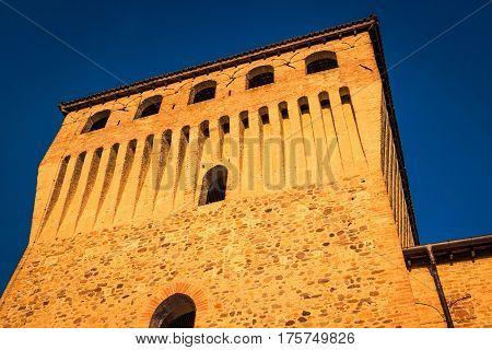 Historic stronghold of Torrechiara castle Emilia-Romagna Italy.