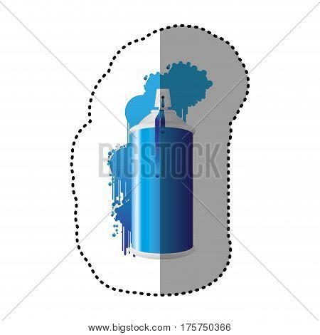 blue can aerosol sprays icon, vector illustraction design