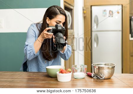 Photographer Taking Pictures Of Food