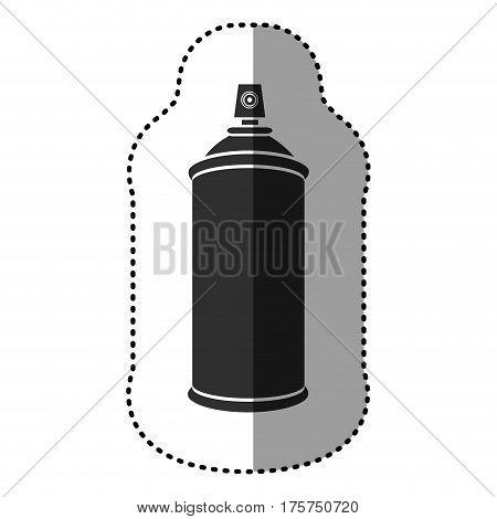 black aerosol sprays icon, vector illustraction design