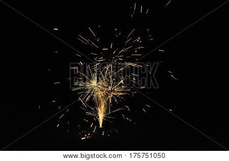 Fireworks On Guy Fawkes Night In New Zealand