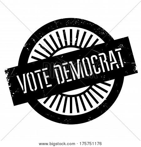 Vote democrat stamp. Grunge design with dust scratches. Effects can be easily removed for a clean, crisp look. Color is easily changed.