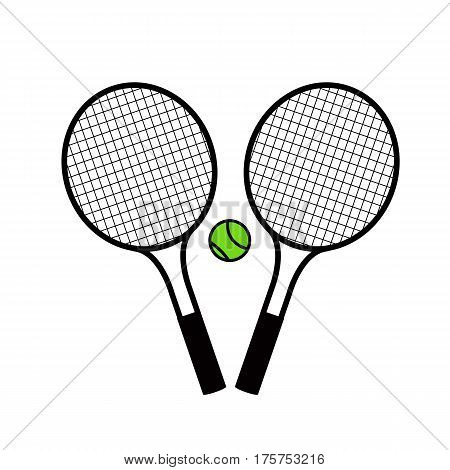 Tennis racket with tennis balls on a white background.