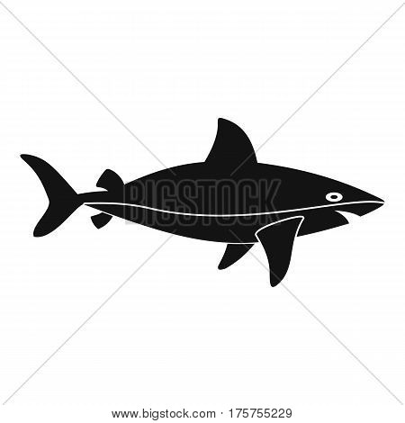 Shark fish icon. Simple illustration of shark fish vector icon for web