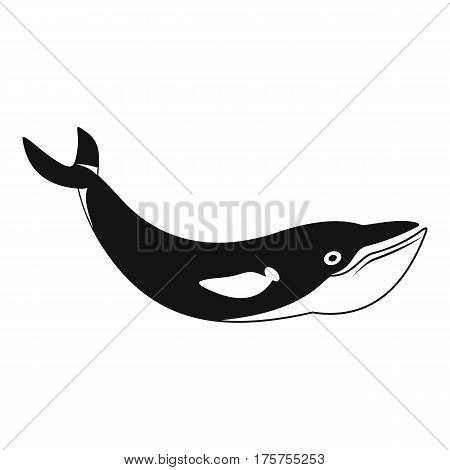 Whale icon. Simple illustration of whale vector icon for web