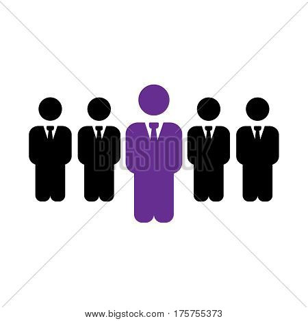Leader vector recruitment and human resource sign. Leader vector