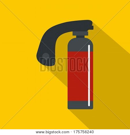 Gas cylinder icon. Flat illustration of gas cylinder vector icon for web isolated on yellow background