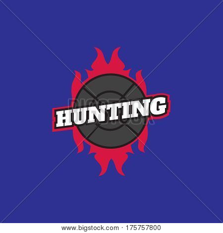 Deer hunting badge. Logo for hunting club vector