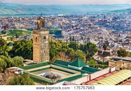 Mosque at Bab Guissa Gate in Fez - Morocco