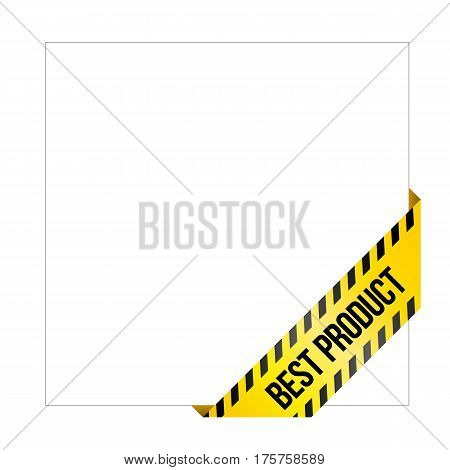 Yellow Caution Tape With Words 'best Product'