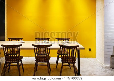 elegance dining table in luxury dining room