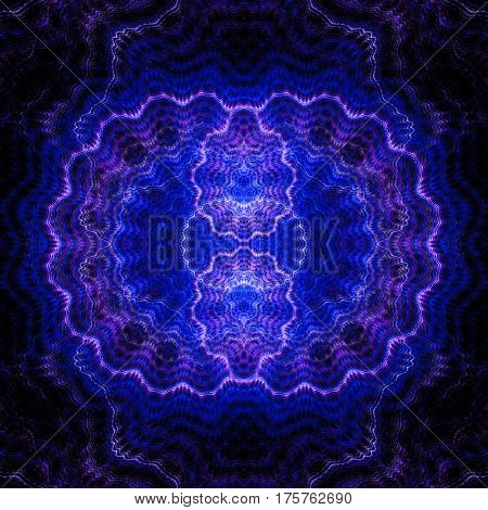 Spiral. Waves. Radio waves. 3D surreal illustration. Sacred geometry. Mysterious psychedelic relaxation pattern. Fractal abstract texture. Digital artwork graphic astrology magic