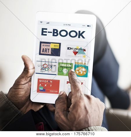 E-book digital magazine collection publishment download graphic