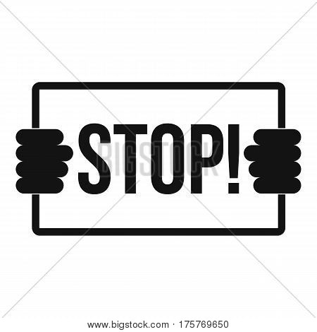Stop icon. Simple illustration of stop vector icon for web