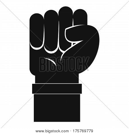 Fist icon. Simple illustration of fist vector icon for web