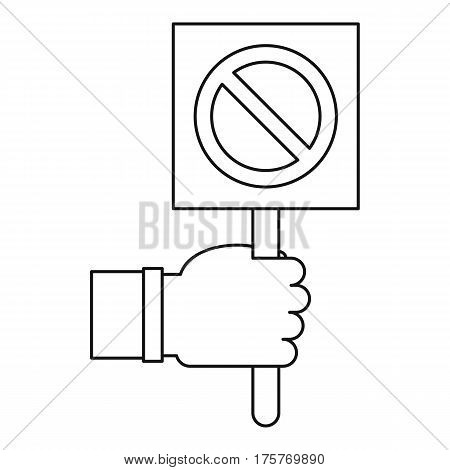Stop sign icon. Outline illustration of stop sign vector icon for web