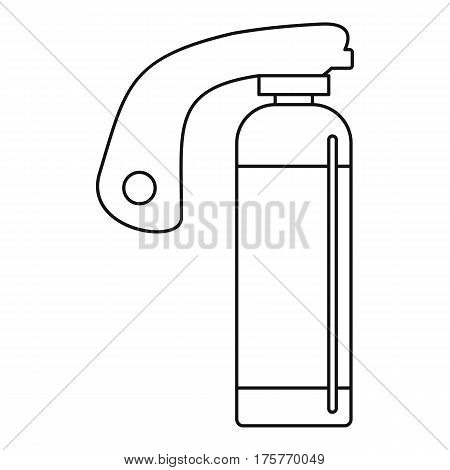 Fire extinguisher icon. Outline illustration of fire extinguisher vector icon for web